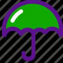 essential, interface, umbrella icon