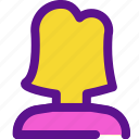 essential, female, interface, user icon