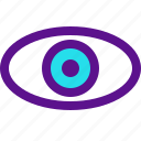 essential, interface, vision icon