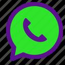 essential, interface, whatsapp icon