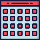 calendar, deadlines, essentials, time keeping icon