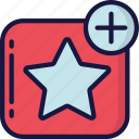 add, essentials, favourite, like, star icon