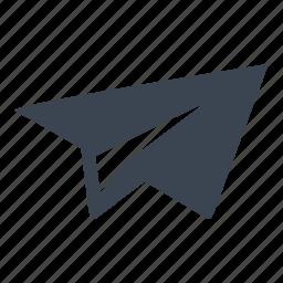 essential, essentials, paperplane, sending, ui icon