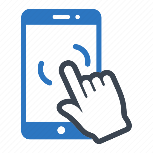 essentials, screen, smartphone, touching icon