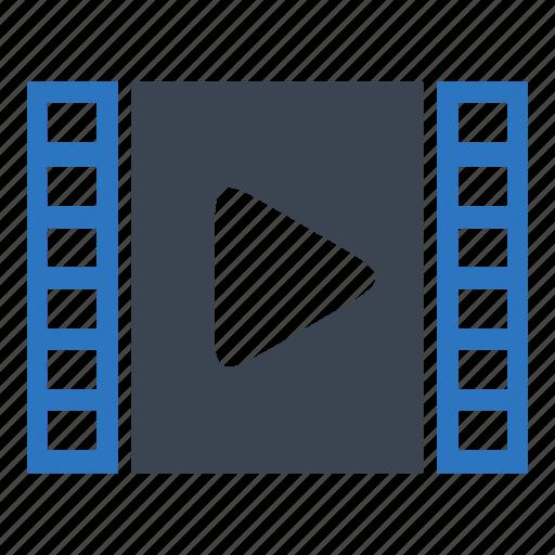 essentials, film, media, movie, video icon