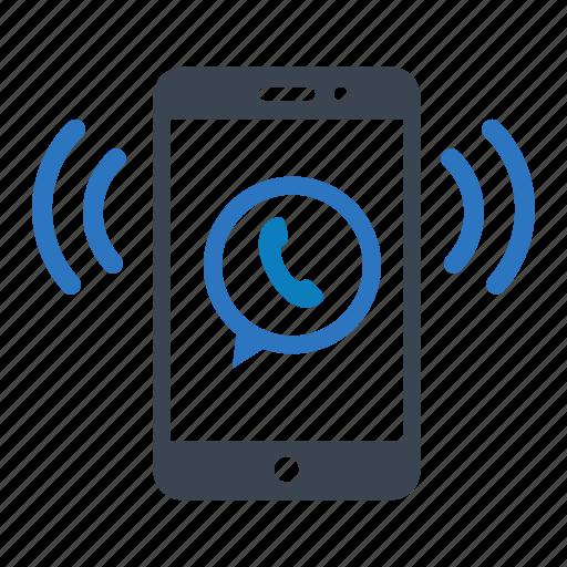 calling, essentials, phone, ringing, whatsapp icon