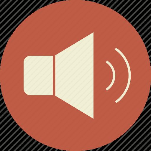 audio, full, high, loud, music, on, sound, speaker, up, volume icon