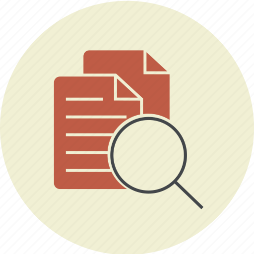 document, file, files, find, magnifier, page, search, sheet icon