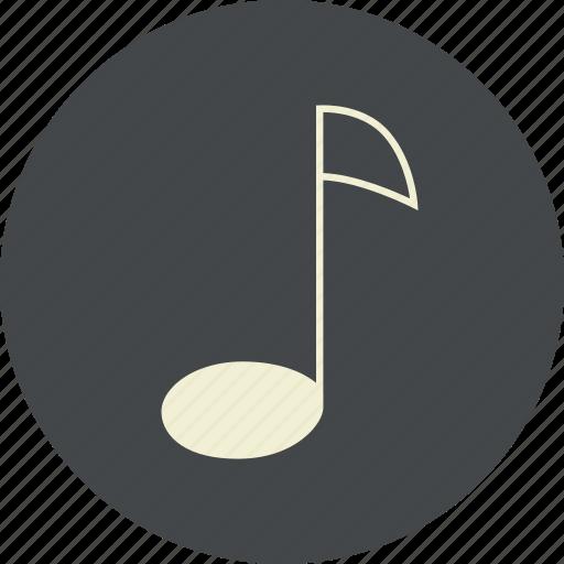 eighth, music, note, quaver, sound icon