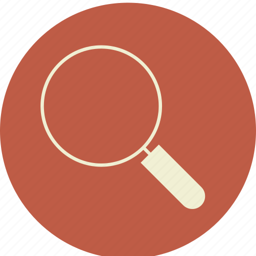 application, find, glass, loupe, magnifier, map, search, view, zoom icon