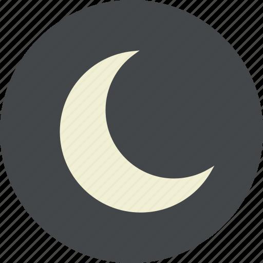 moon, new, night, phase, sky, sleep, weather icon