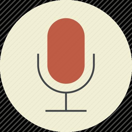 application, audio, microphone, podcast, record, sound, speaker, speech, voice icon
