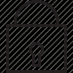 essentials, lock, locked, padlock, secure, security, tools icon