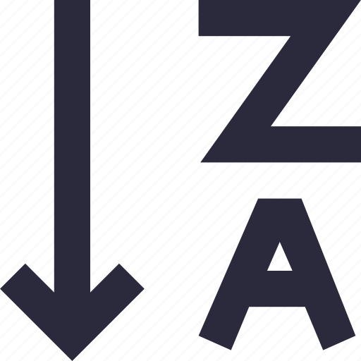 a to z, alphabetical order, alphabetically, alphabets, sorting icon