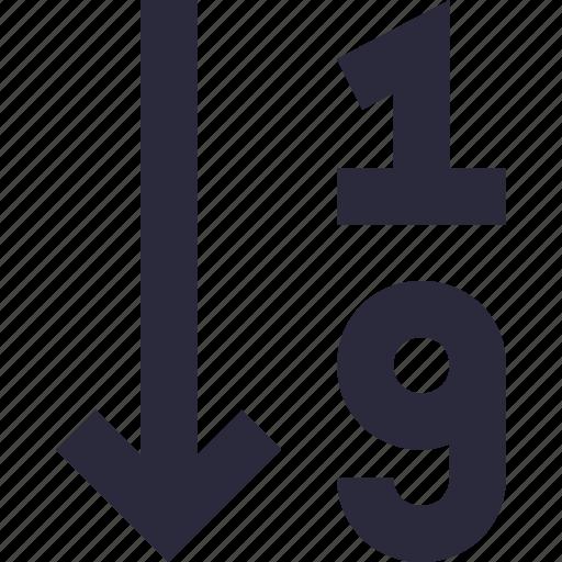 number, numeric, numeric list, numeric sorting, sorting icon
