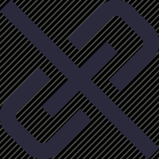 broken chain, broken connection, hyperlink, interlink, link break icon