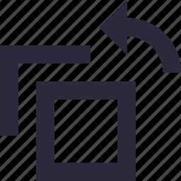 arrow, diagonal, orientation, rotate, screen rotation icon