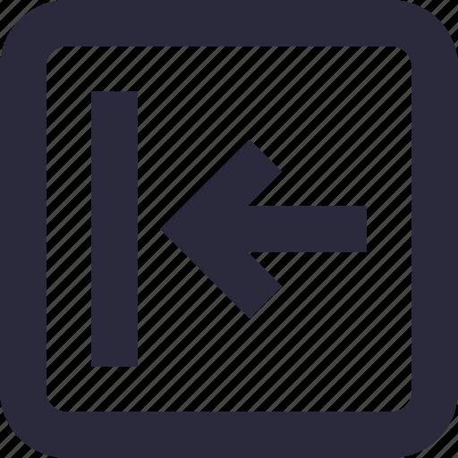 arrow, back, directional, left arrow, previous icon