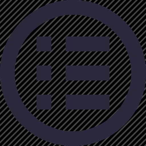 list, menu, options, task, to do icon