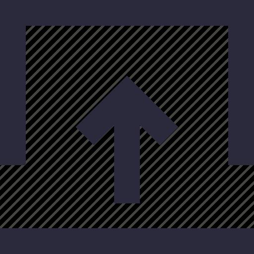 arrow, direction, pointing arrow, up arrow, uploading icon