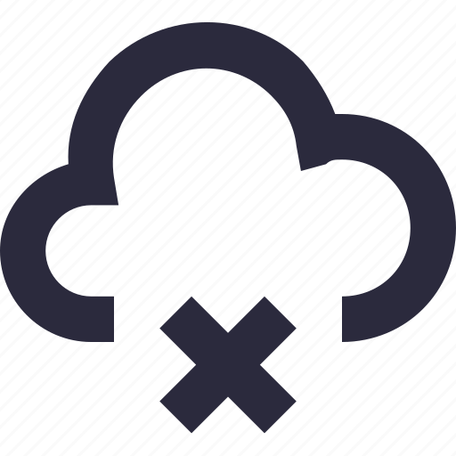 cloud computing, cloud delete, cloud disconnected, cloud removed, icloud icon