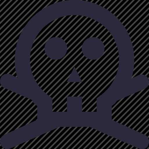 danger, human skull, skeleton, skull, toxic icon