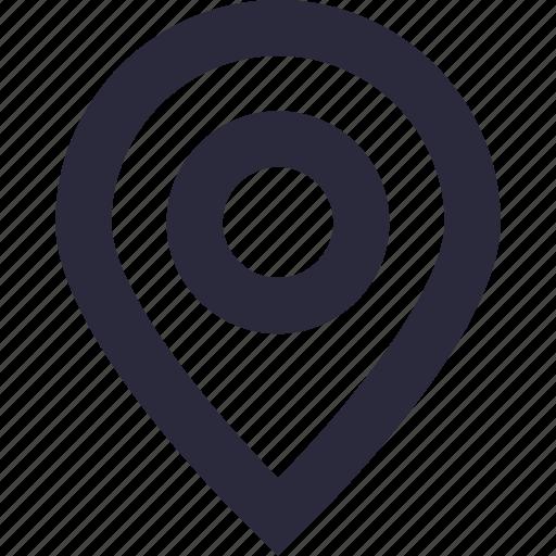 gps, location pin, map locator, map pin, navigation icon