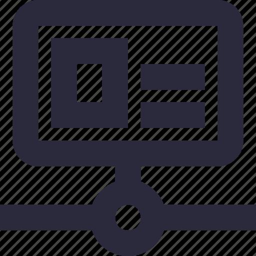 database, hosting, server, server connection, server storage icon