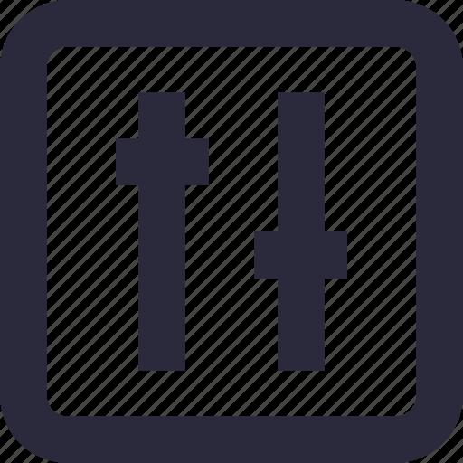 equalizer, multimedia, preferences, sound settings, volume adjuster icon