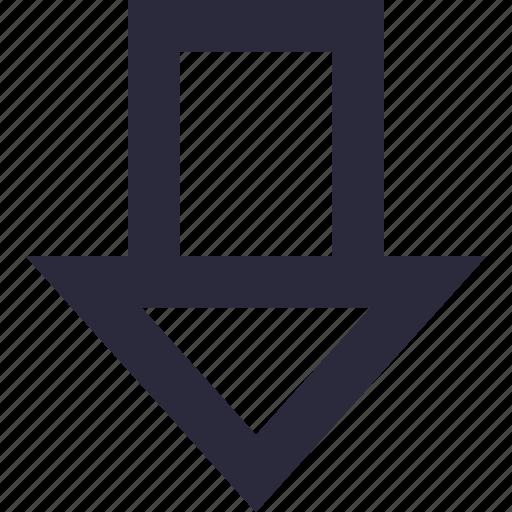 arrow, directional, down arrow, downward, navigational icon