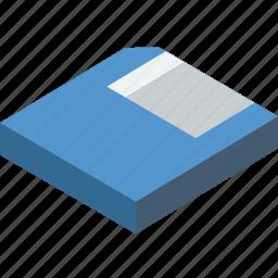 essentials, isometric, save icon