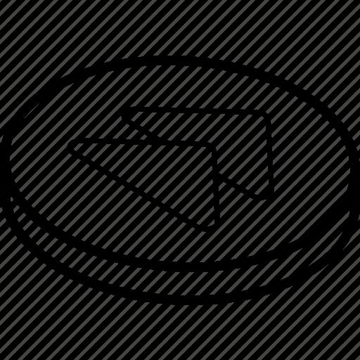 essentials, fast, forward, isometric icon