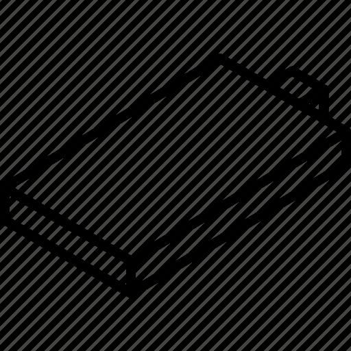battery, empty, essentials, isometric icon