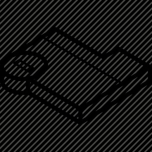 Delete, essentials, folder, isometric icon - Download on Iconfinder