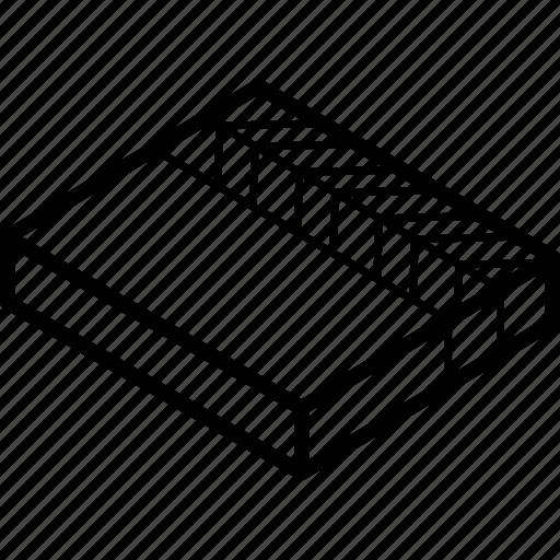 board, clapper, essentials, isometric icon