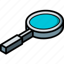 essentials, isometric, zoom icon