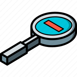essentials, isometric, out, zoom icon