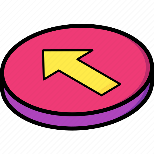 backwards, essentials, isometric icon