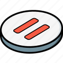 essentials, isometric, pause icon