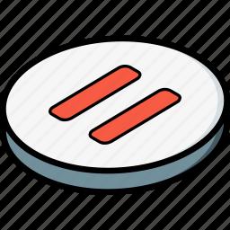 essentials, isometric, pause icon