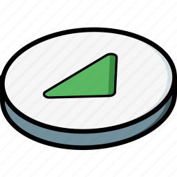 essentials, isometric, play icon