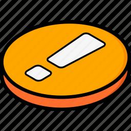 alert, essentials, isometric icon