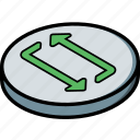 essentials, isometric, restart icon