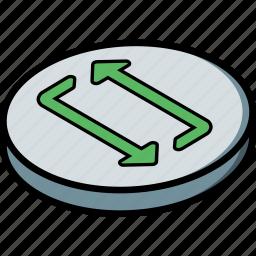 essentials, isometric, restart icon