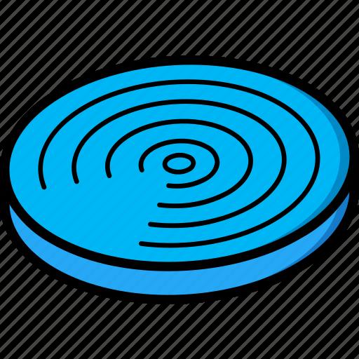 airdrop, essentials, isometric icon
