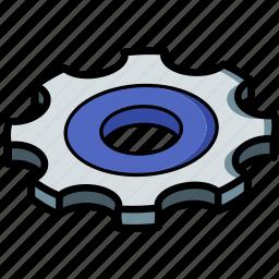 essentials, isometric, settings icon