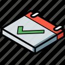 calendar, essentials, isometric, positive icon