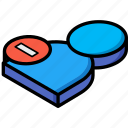 delete, essentials, isometric, user icon