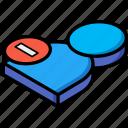 isometric, delete, user, essentials
