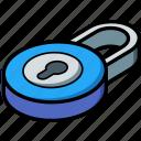 essentials, isometric, locked icon